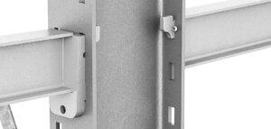 Kragarme einhängbar 300x143 - Kragarmregal einseitig, Höhe 3500 mm, Tiefe 1200 mm, feuerverzinkt