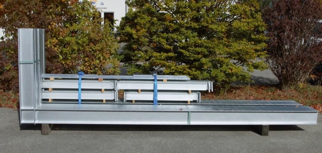 Kragarmregal gebraucht Höhe 3.500 mm x Tiefe 1.200 mm