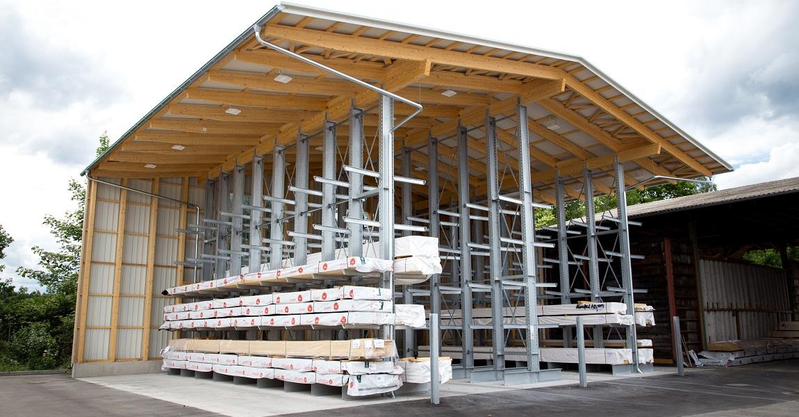 Singer Regalhalle Kragarmregal Einhängesystem 1 - Regalhalle
