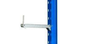 Kragarm verzinkt einhängbar U Profil 300x143 - Kleines Kragarmregal einseitig, Höhe 2500 mm, Tiefe 500 mm