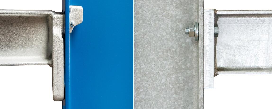 Kragarmregal Einhängesystem und Schraubsystem - Kragarmregale