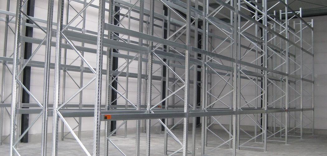 Palettenregal verzinkt 6.000 x 1.100 gebraucht 1050x500 - gebrauchte Palettenregale