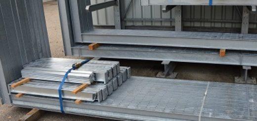 Kragarmregal gebraucht feuerverzinkt 3.700 mm 400 x 300 520x245 - Kragarmregal, gebraucht, einseitig, Höhe 3700 mm, Tiefe 1200 mm