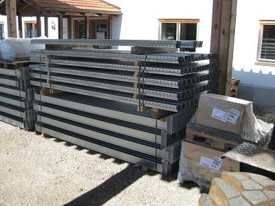Palettenregal verzinkt gebraucht 3.000 mm 400 x 300 - Verzinktes Palettenregal Dexion, Höhe 3000 mm, Tiefe 1100 mm