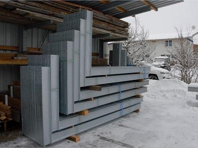 Kragarmregal gebraucht 3.700 mm hhere Tragkraft 400x300 - DEMO-Kragarmregal, gebr., eins., Höhe 2345 mm, Tiefe 1234 mm